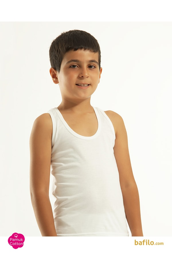 اوزتاش | öztaş - زیرپوش نخی آستین حلقه ای پسرانه اوزتاش  A-3001 سفید