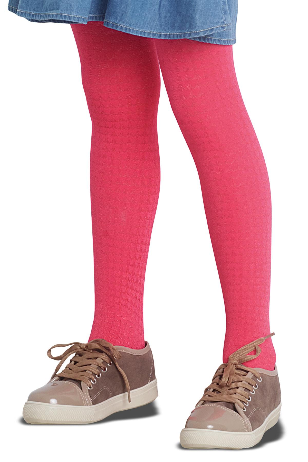 پنتی | Penti - جوراب شلواری دخترانه طرح Amore رنگ گلبهی