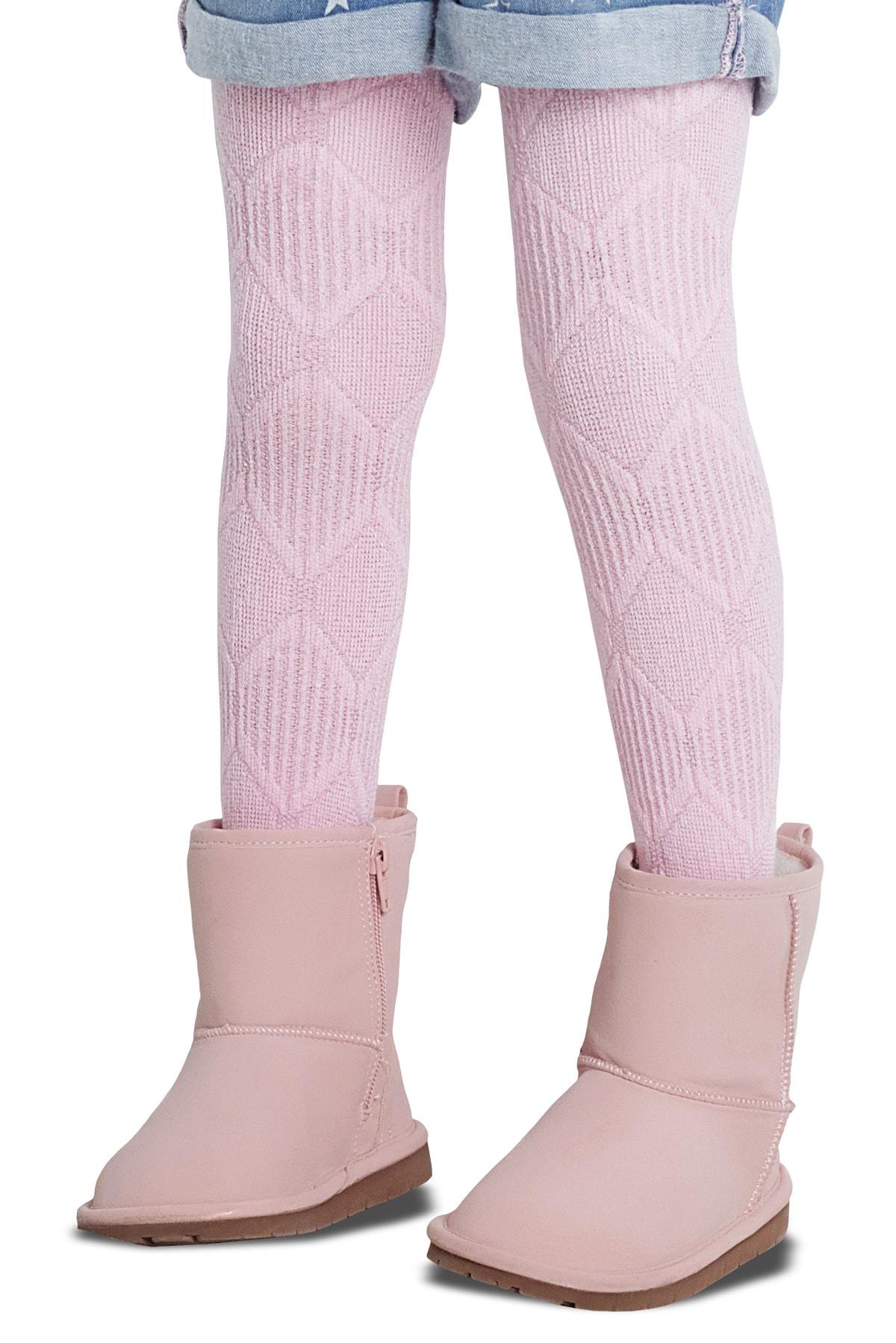 پنتی | Penti - جوراب شلواری دخترانه طرح Ayda رنگ صورتی