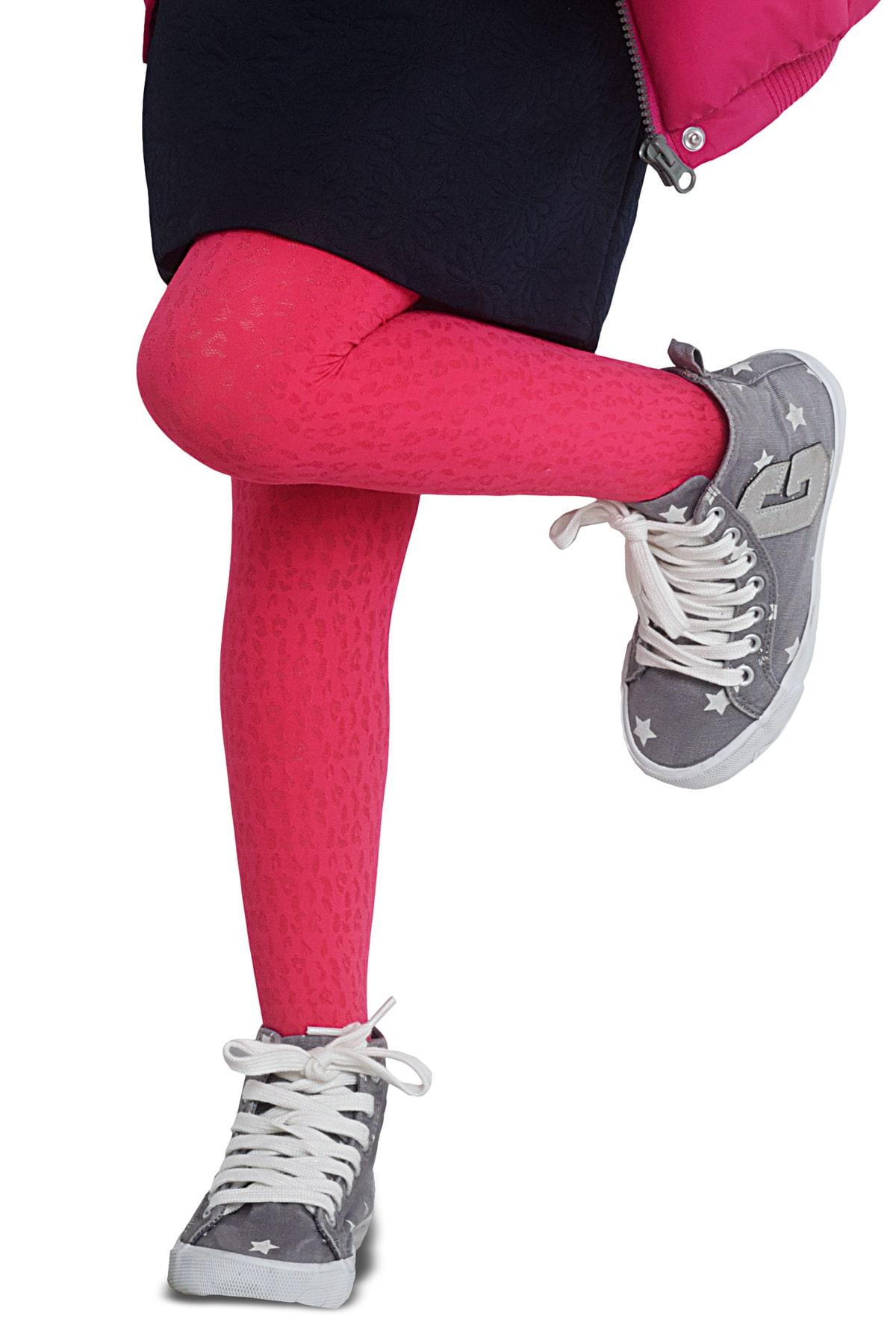 پنتی | Penti - جوراب شلواری دخترانه طرح Irene رنگ گلبهی