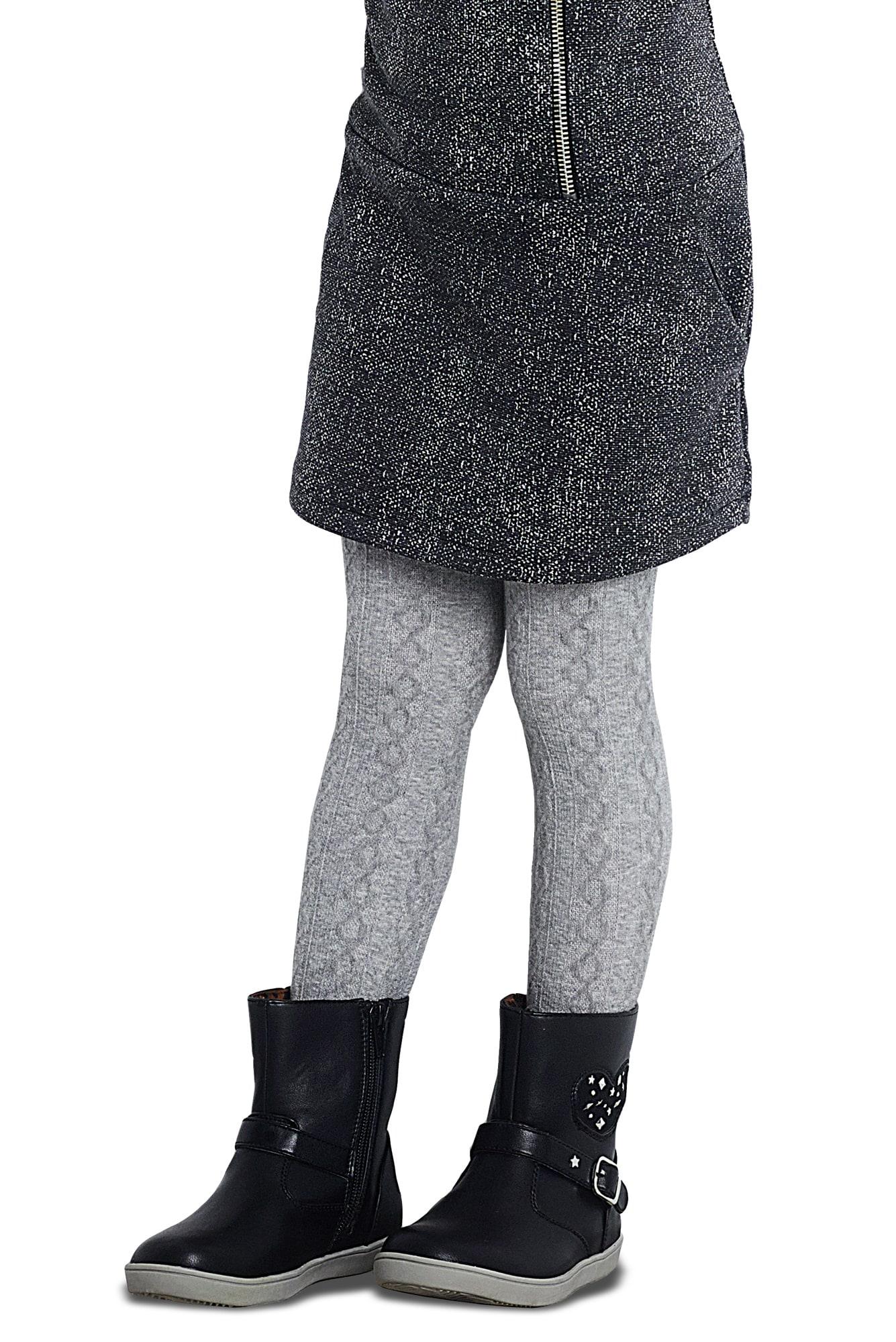 پنتی | Penti - جوراب شلواری دخترانه طرح Karina رنگ طوسی