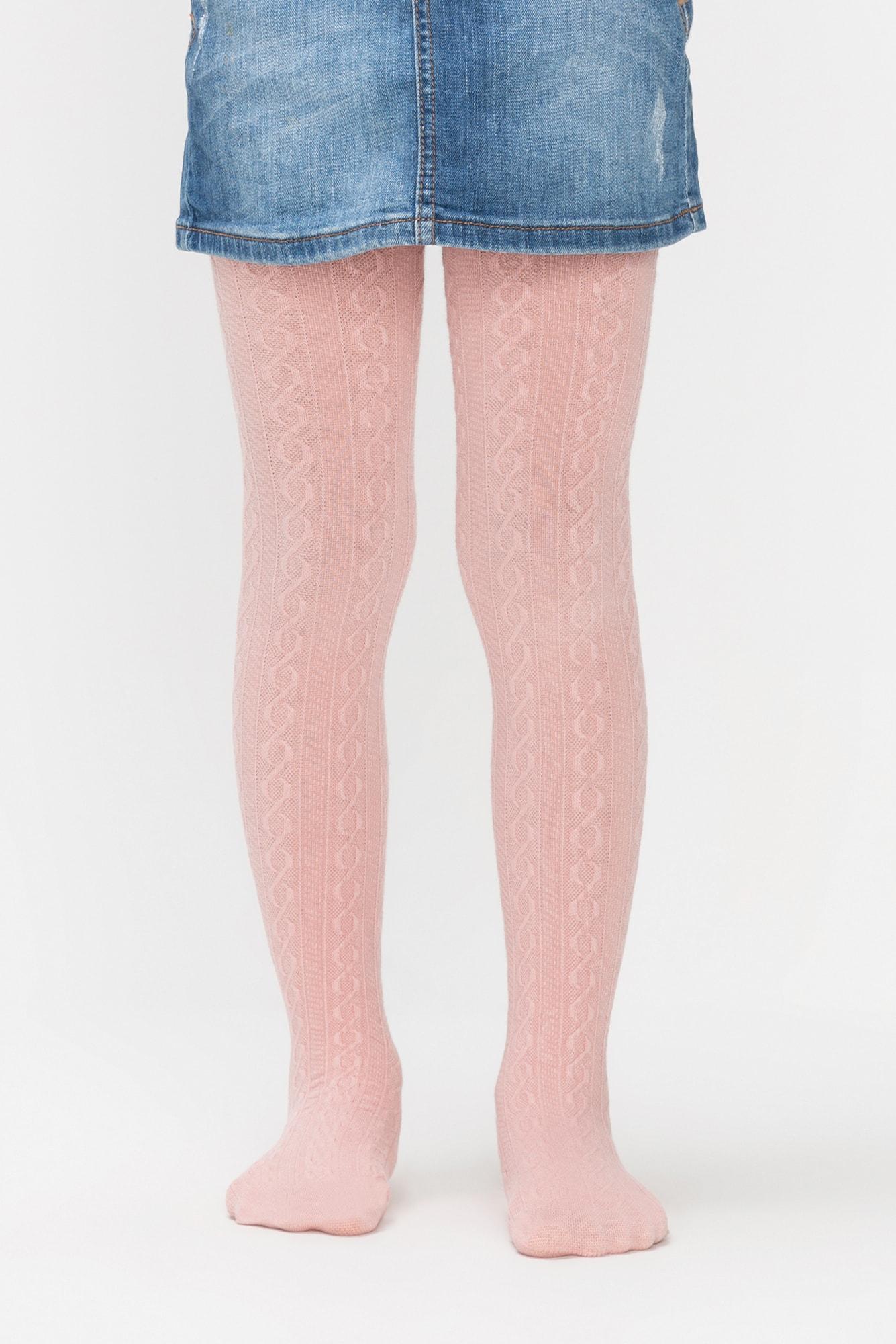پنتی | Penti - جوراب شلواری دخترانه طرح Karina رنگ صورتی آنتیک