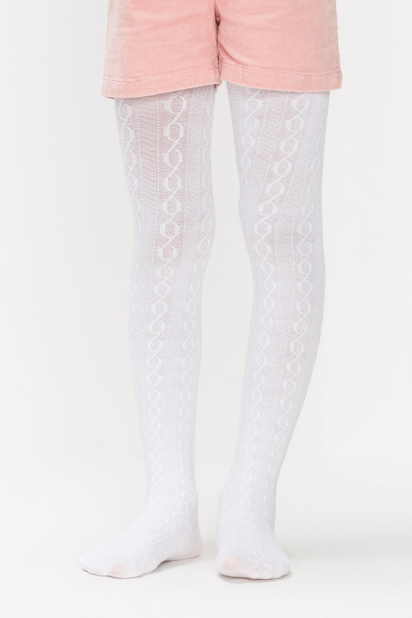 پنتی | Penti - جوراب شلواری دخترانه طرح Karina رنگ سفید