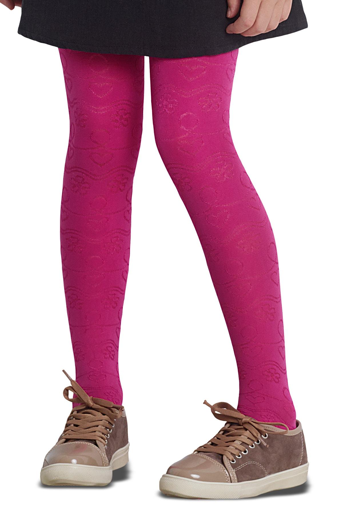 پنتی | Penti - جوراب شلواری دخترانه طرح Lilyum رنگ سرخابی