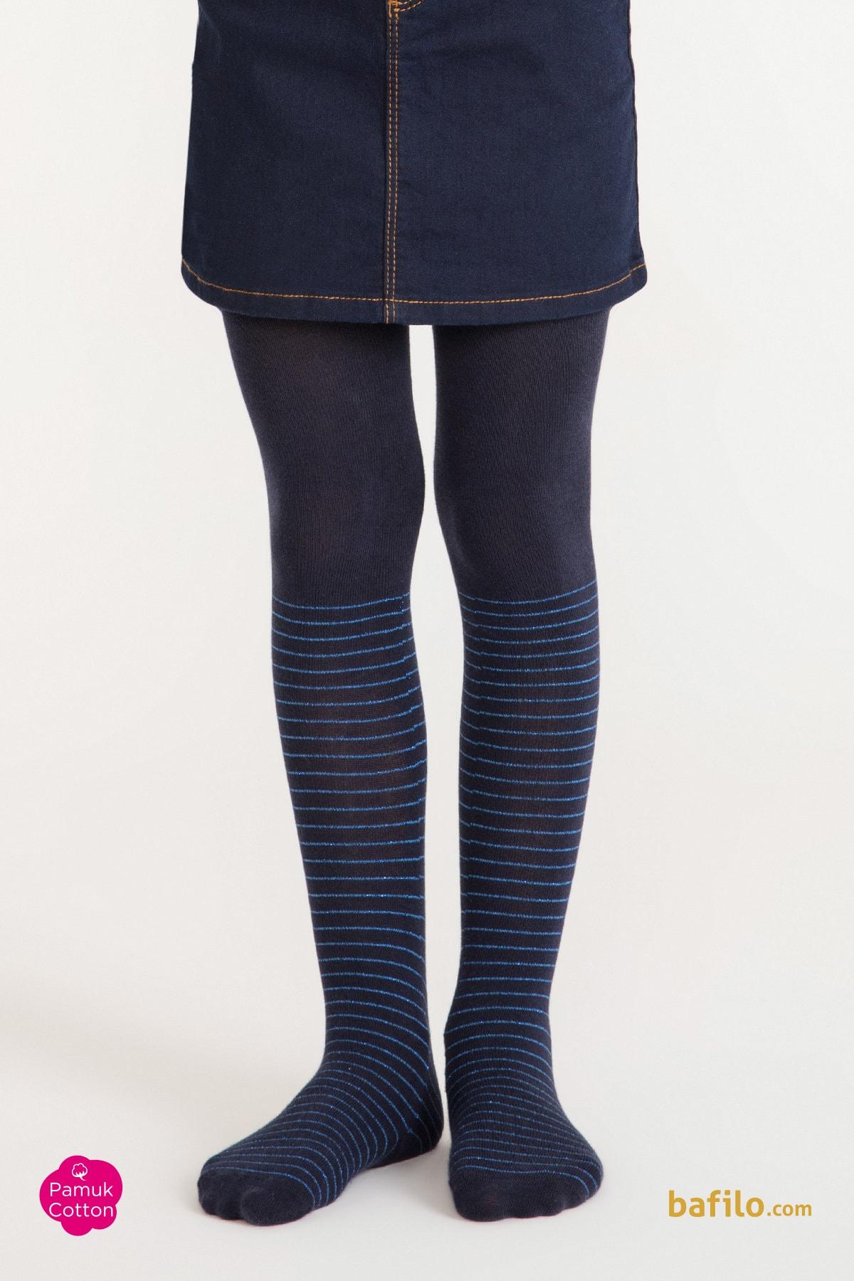 پنتی | Penti - جوراب شلواری طرح دار دخترانه پنتی Crystal سرمه ای