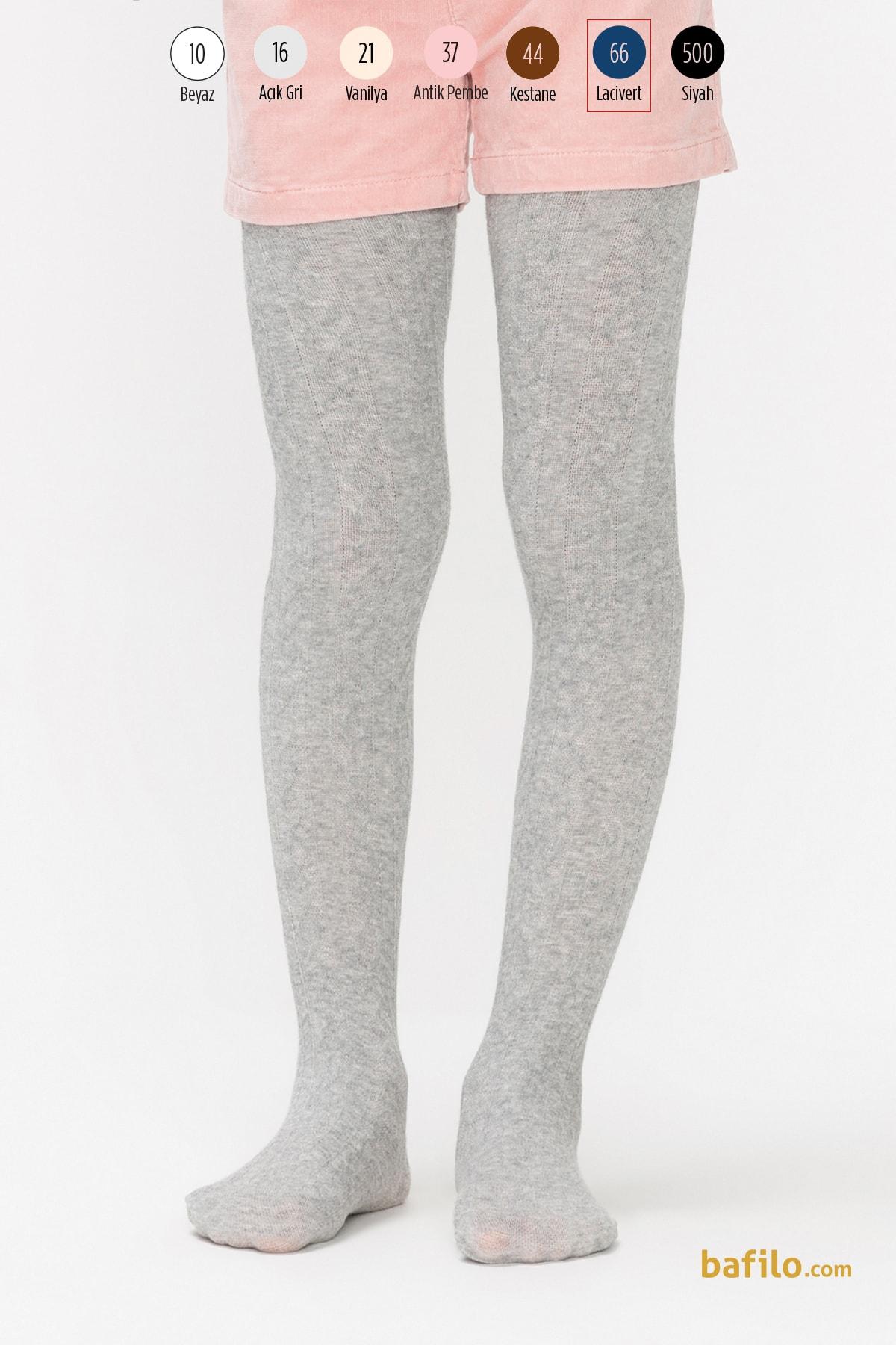پنتی | Penti - جوراب شلواری دخترانه طرح Karina سرمه ای