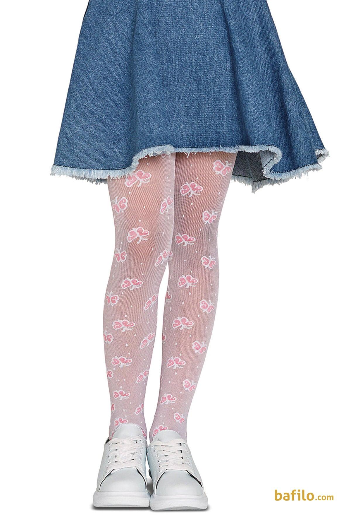 پنتی | Penti - جوراب شلواری طرح دار دخترانه پنتی Wings سفید