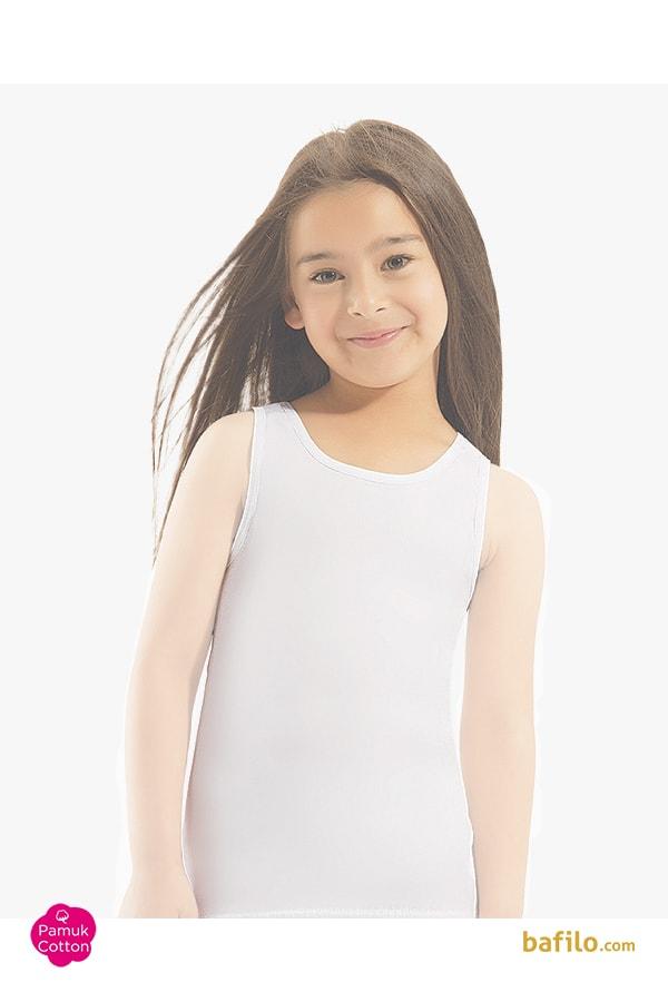 اوزتاش | öztaş - زیرپوش نخی آستین حلقه ای دخترانه اوزتاش  A-4014 سفید