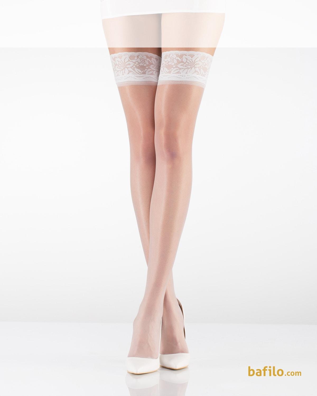 ایتالیانا | ITALIANA - جوراب بالای زانوی زنانه ایتالیانا Dantel 15 سفید