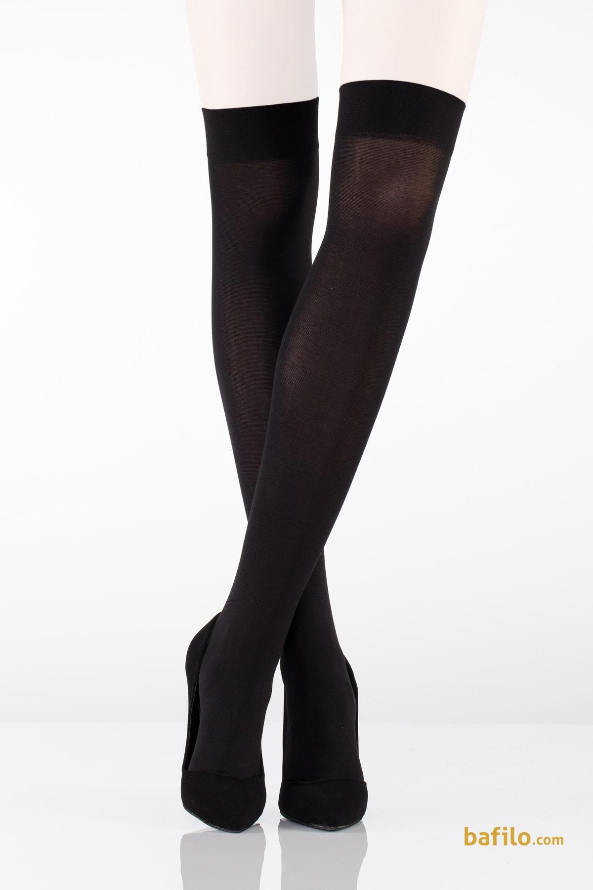 ایتالیانا | ITALIANA - جوراب بالای زانو نخی زنانه ایتالیانا Cotton - مشکی