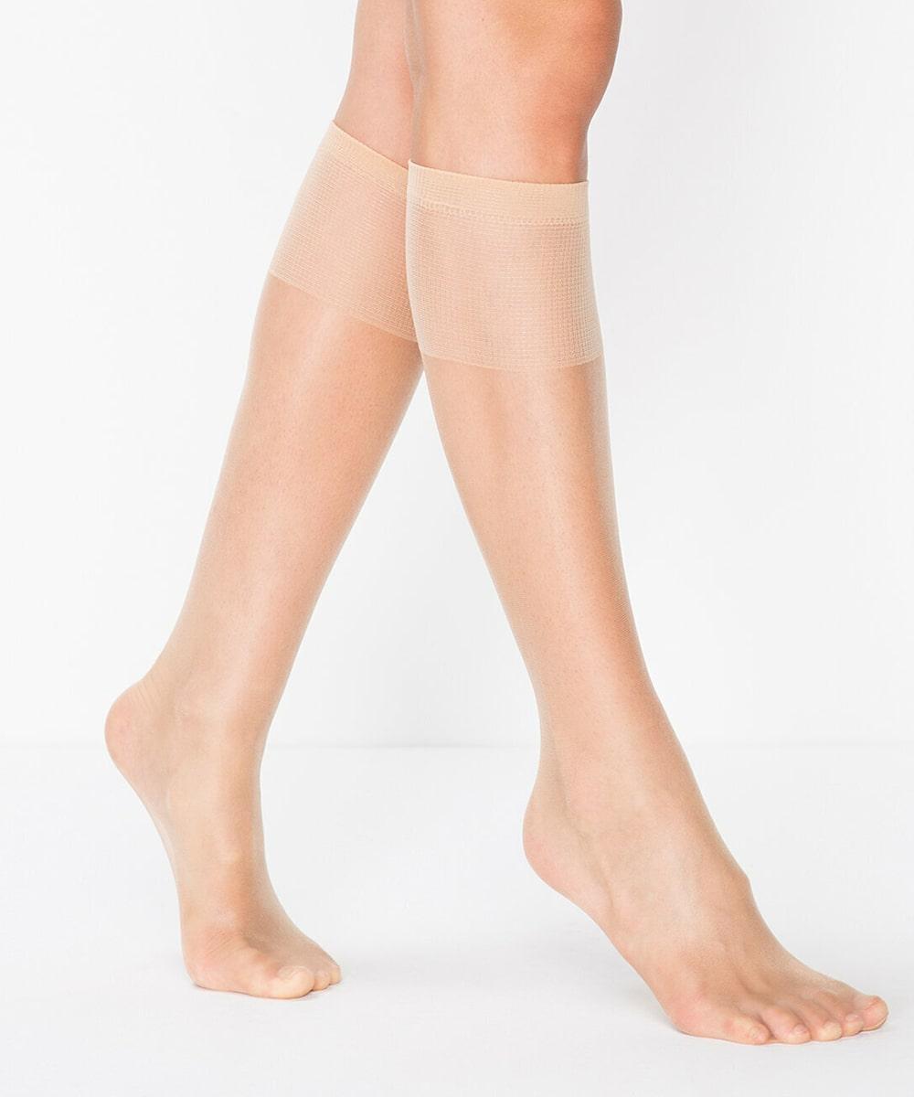پنتی | Penti - جوراب زیر زانو شیشه ای زنانه پنتی  Fit 15 Burunsuz رنگ بدن روشن