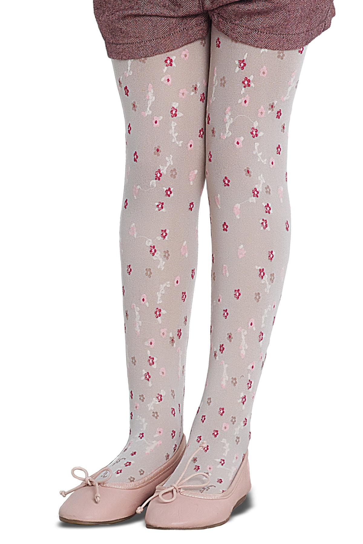 پنتی | Penti - جوراب شلواری دخترانه طرح Marla سفید