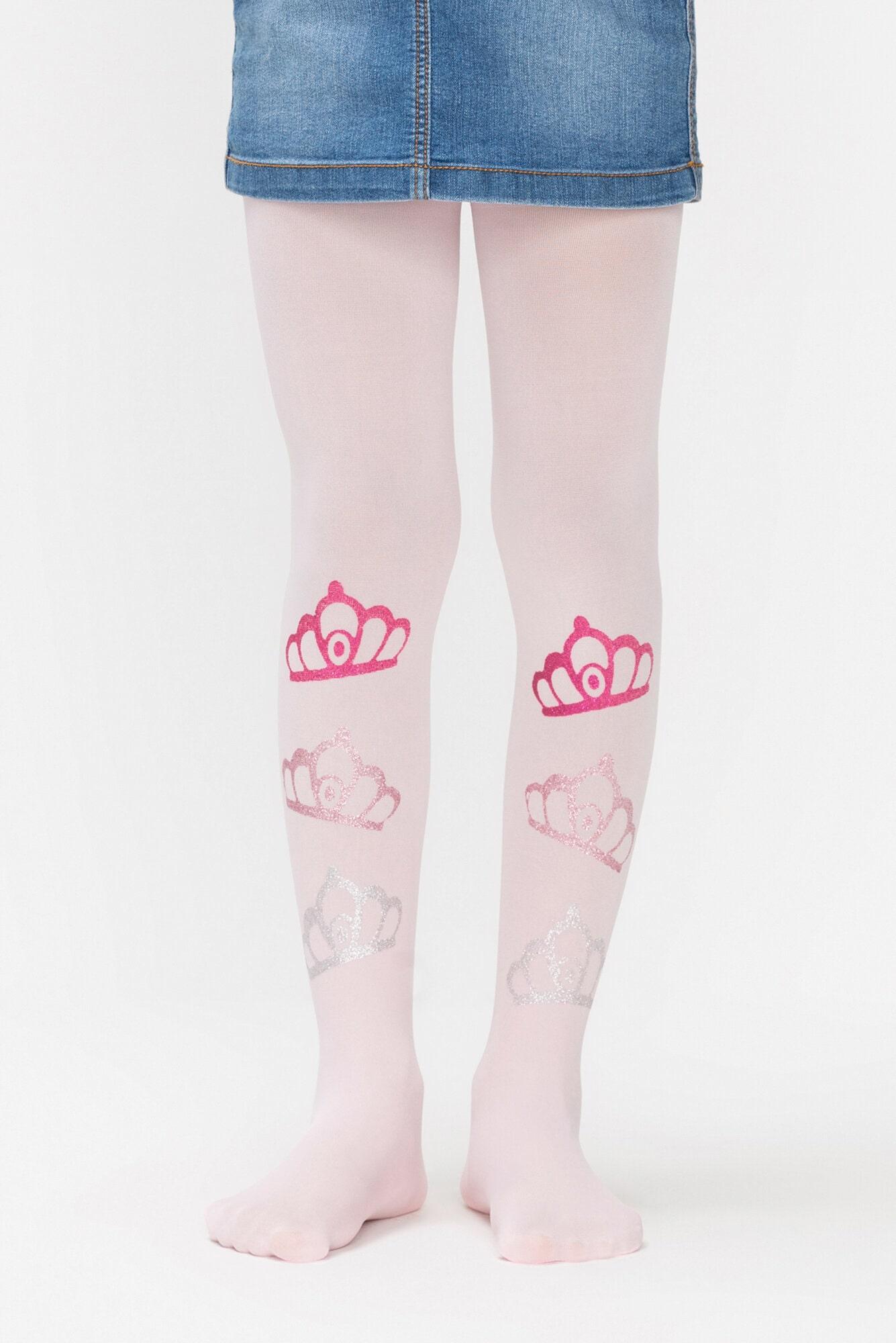 پنتی | Penti - جوراب شلواری طرحدار دخترانه پنتی Crown صورتی