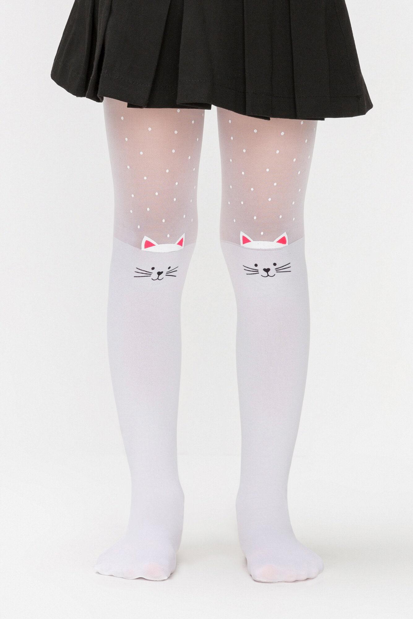 پنتی | Penti - جوراب شلواری طرحدار دخترانه پنتی Mühür سفید