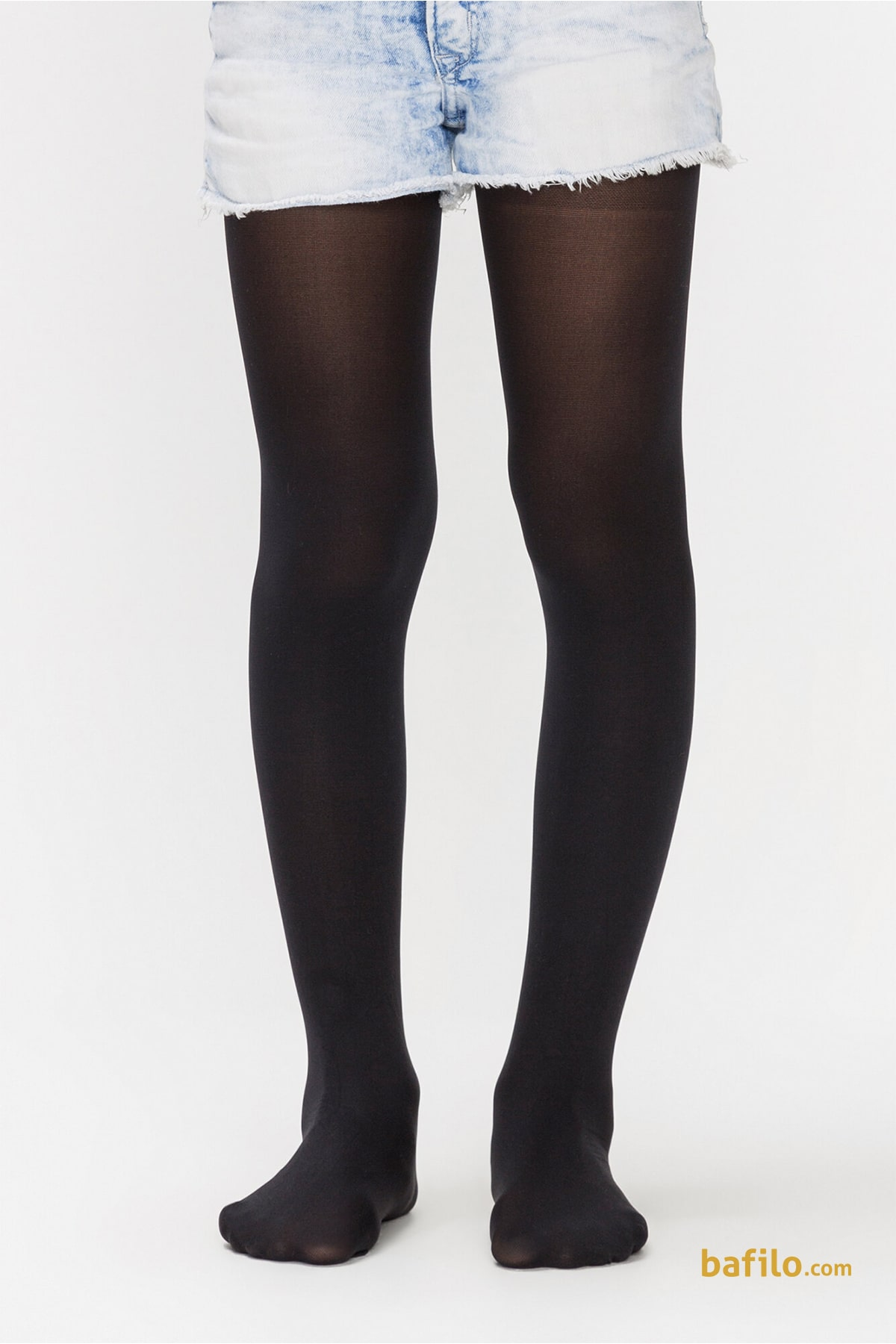 جوراب شلواری ساده دخترانه پنتی Mikro 40 - مشکی - Thumbnail