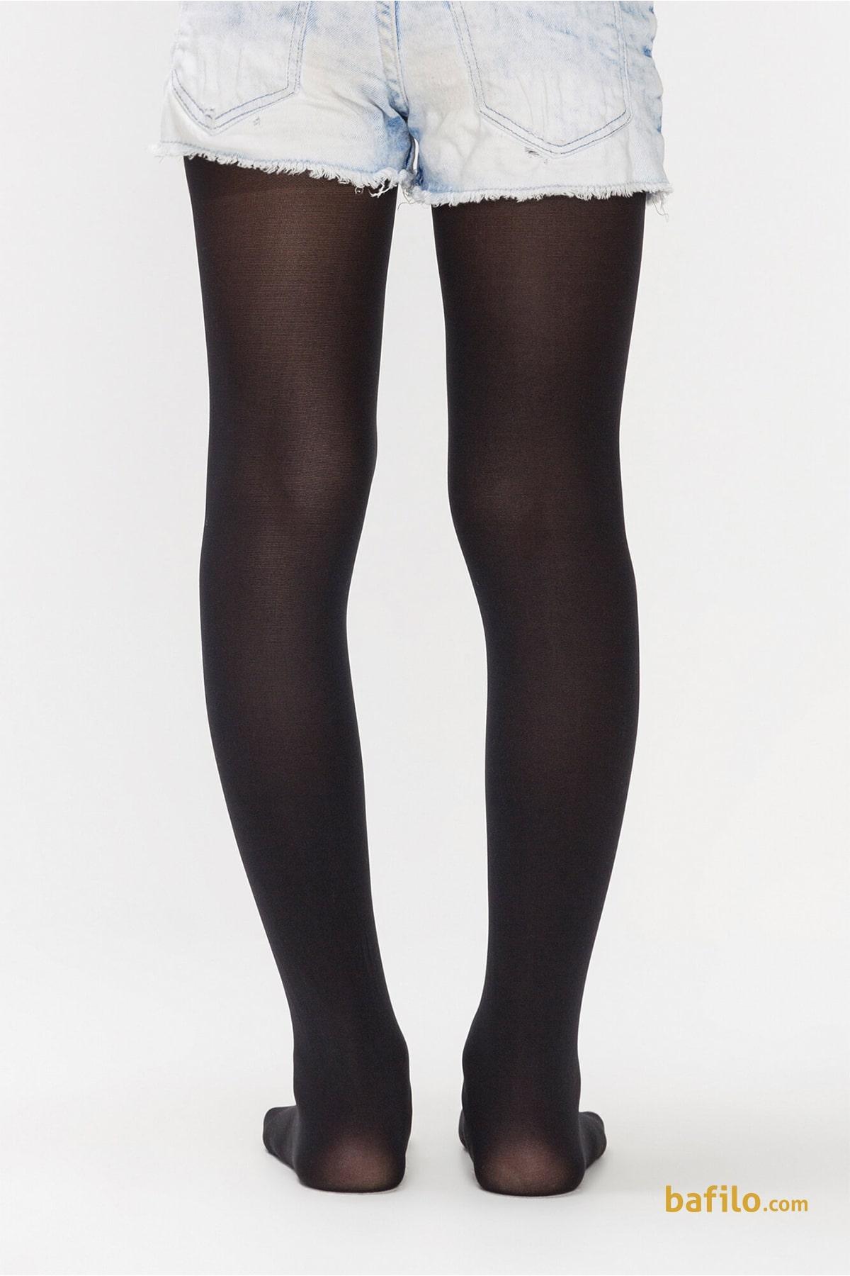 جوراب شلواری ساده دخترانه پنتی Mikro 40 - مشکی