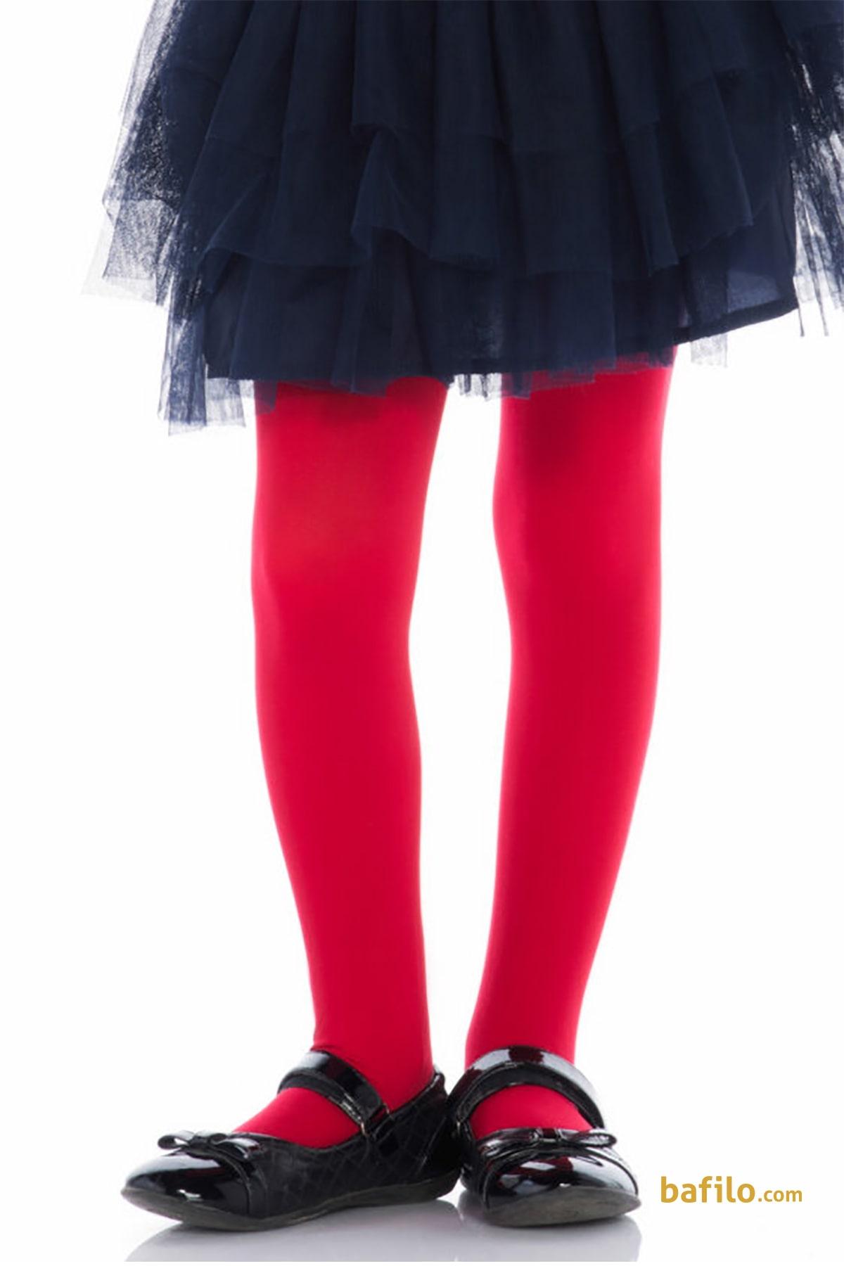 پنتی | Penti - جوراب شلواری ساده دخترانه پنتی Mikro 40 - قرمز