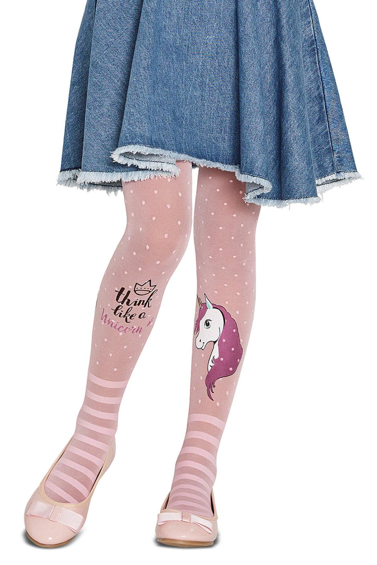 پنتی | Penti - جوراب شلواری طرحدار دخترانه پنتی Unicorn صورتی