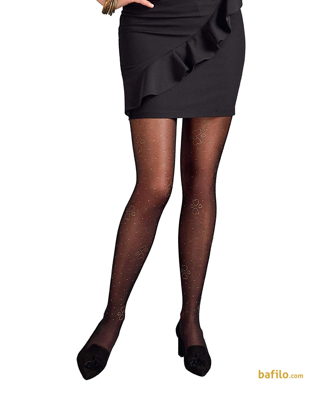 پنتی | Penti - جوراب شلواری طرح دار زنانه پنتی  Heart Glow مشکی