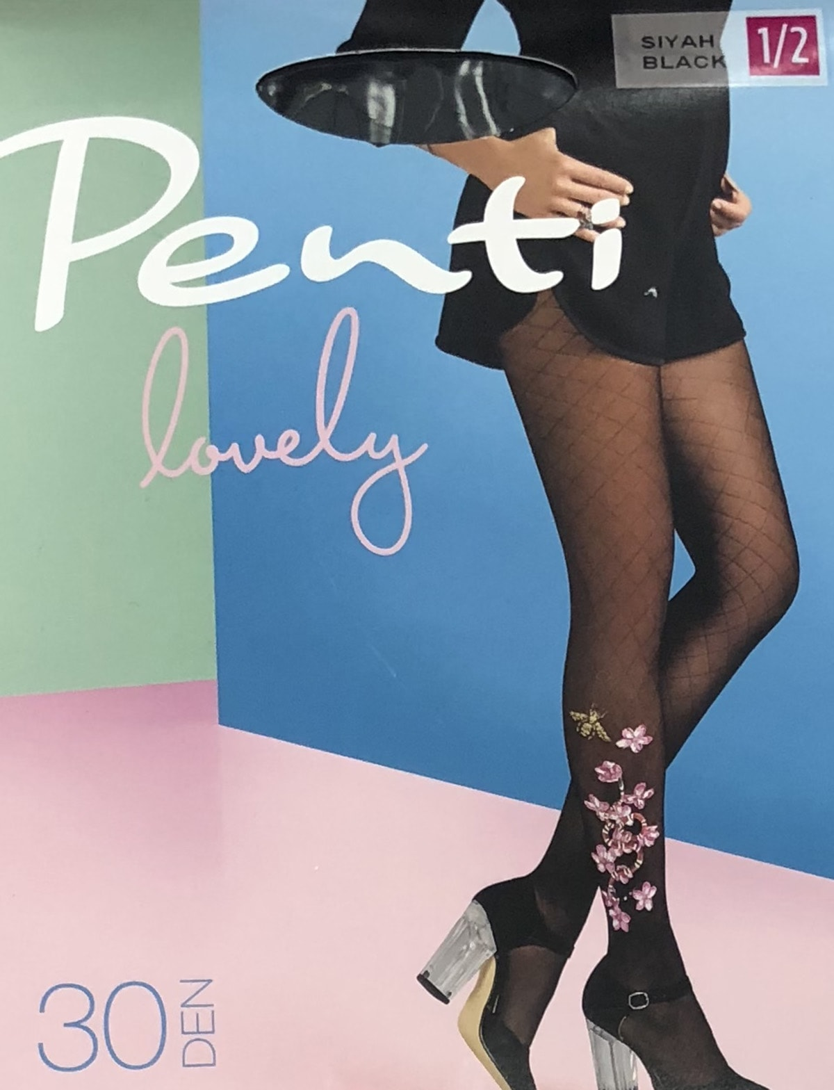 پنتی | Penti - جوراب شلواری طرح دار زنانه پنتی  Snake مشکی