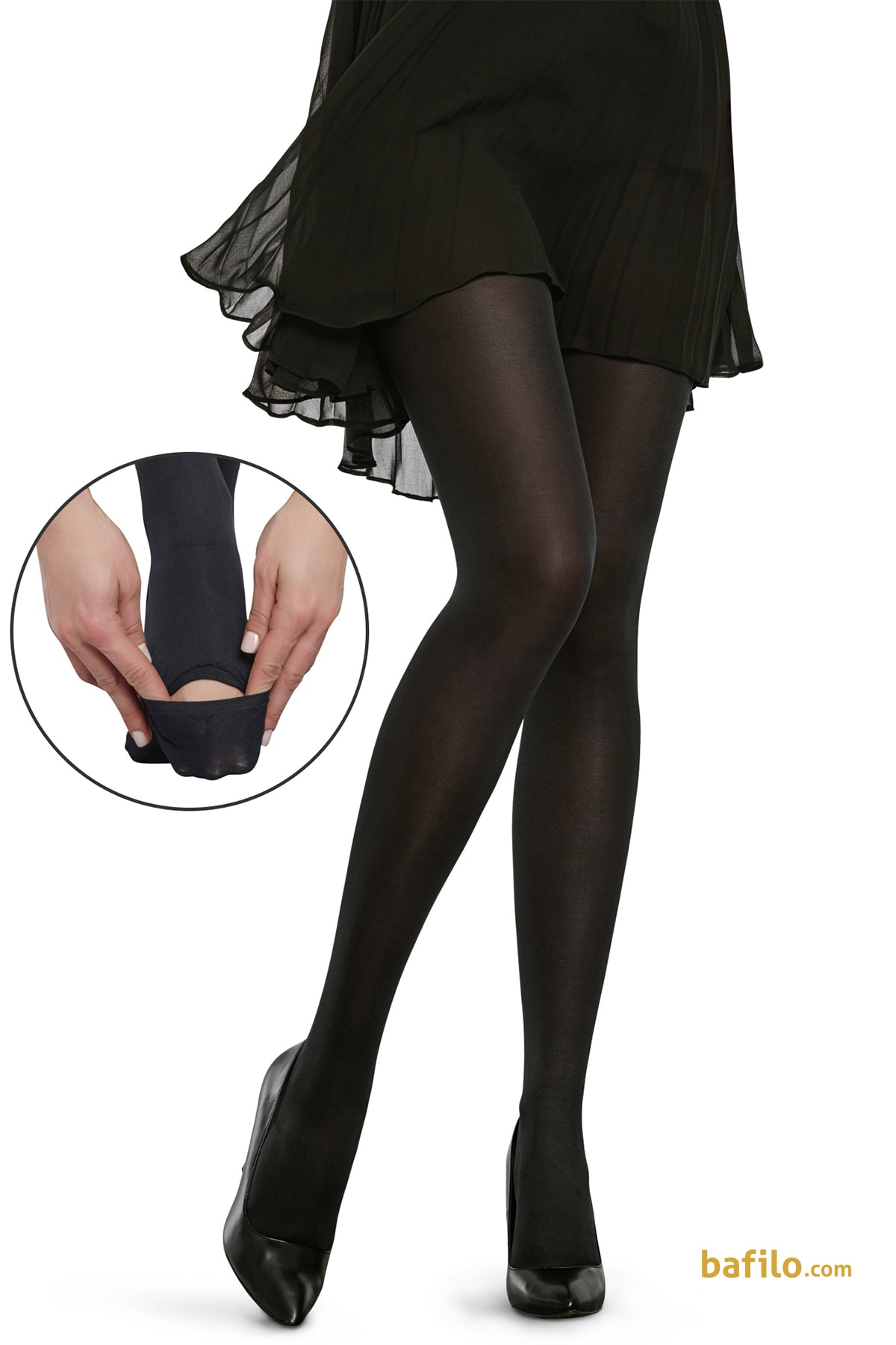 جوراب شلواری وضو زنانه پنتی Pratik رنگ بدن - Thumbnail