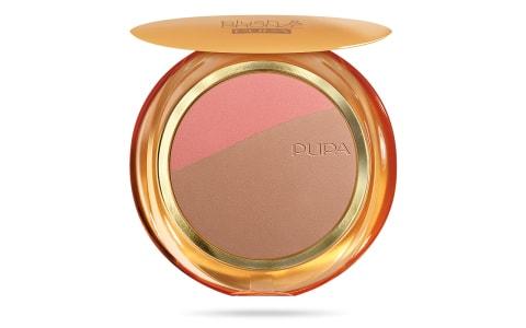 پوپا | PUPA - رژگونه و برنزر پوپا Blush & Bronze 01 - صورتی گندمی