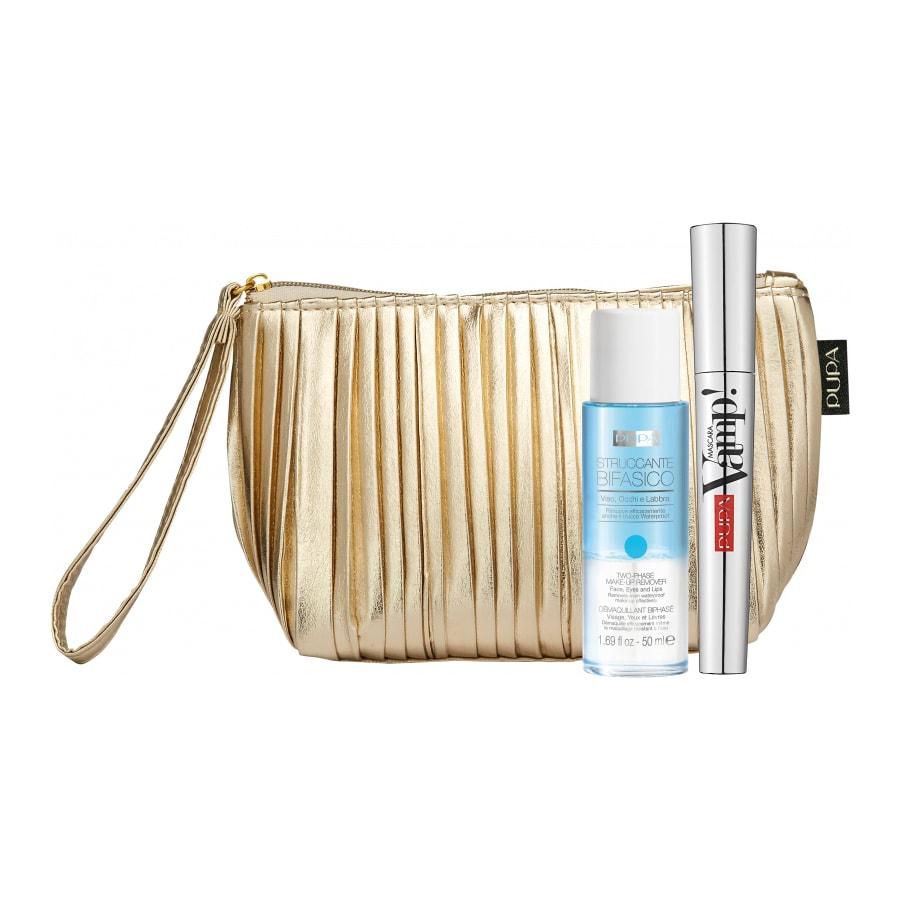 پوپا | PUPA - ست لوازم آرایشی پوپا (کیف آرایشی+ریمل+آرایش پاک کن دو فاز)