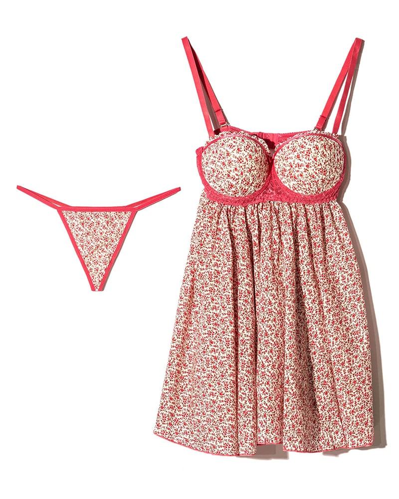ان بی بی | NBB - لباس خواب زنانه ان بی بی 3725 سفید صورتی گلدار