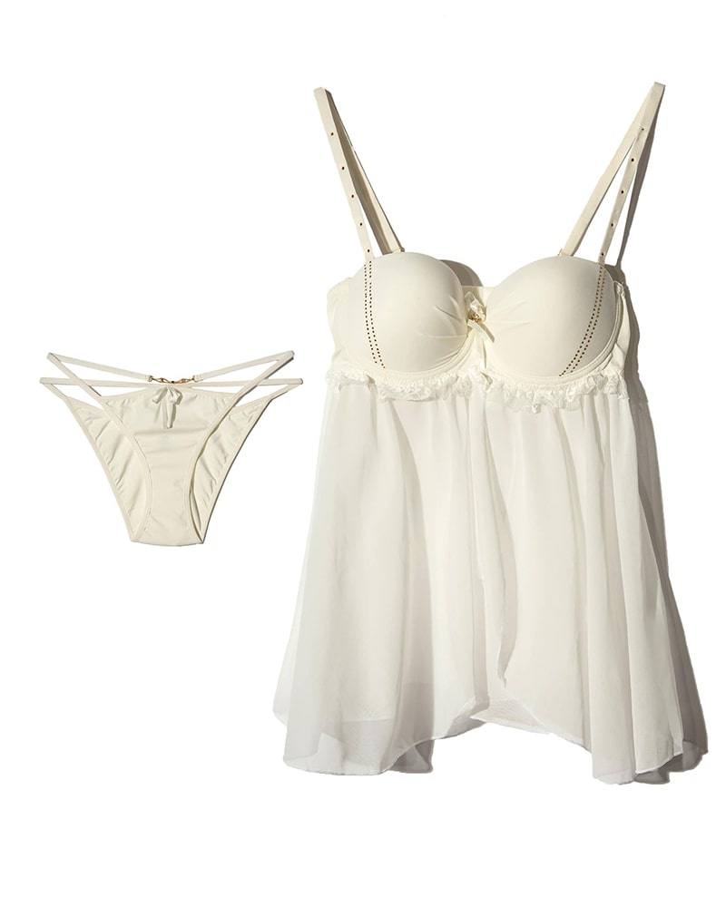ان بی بی | NBB - لباس خواب زنانه توری ان بی بی 3957 شیری