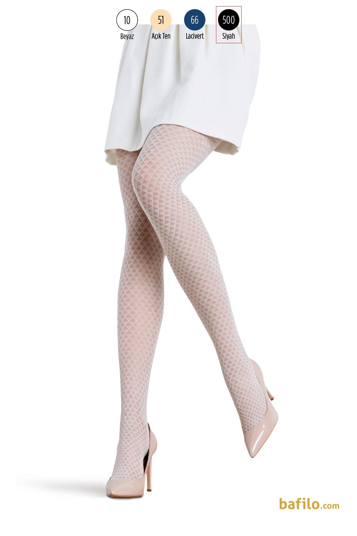 پنتی | Penti - جوراب شلواری طرح دار زنانه پنتی  Dennis مشکی