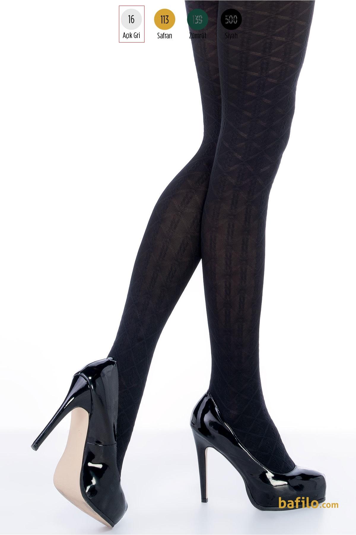 پنتی | Penti - جوراب شلواری طرح دار زنانه پنتی  Lola طوسی روشن