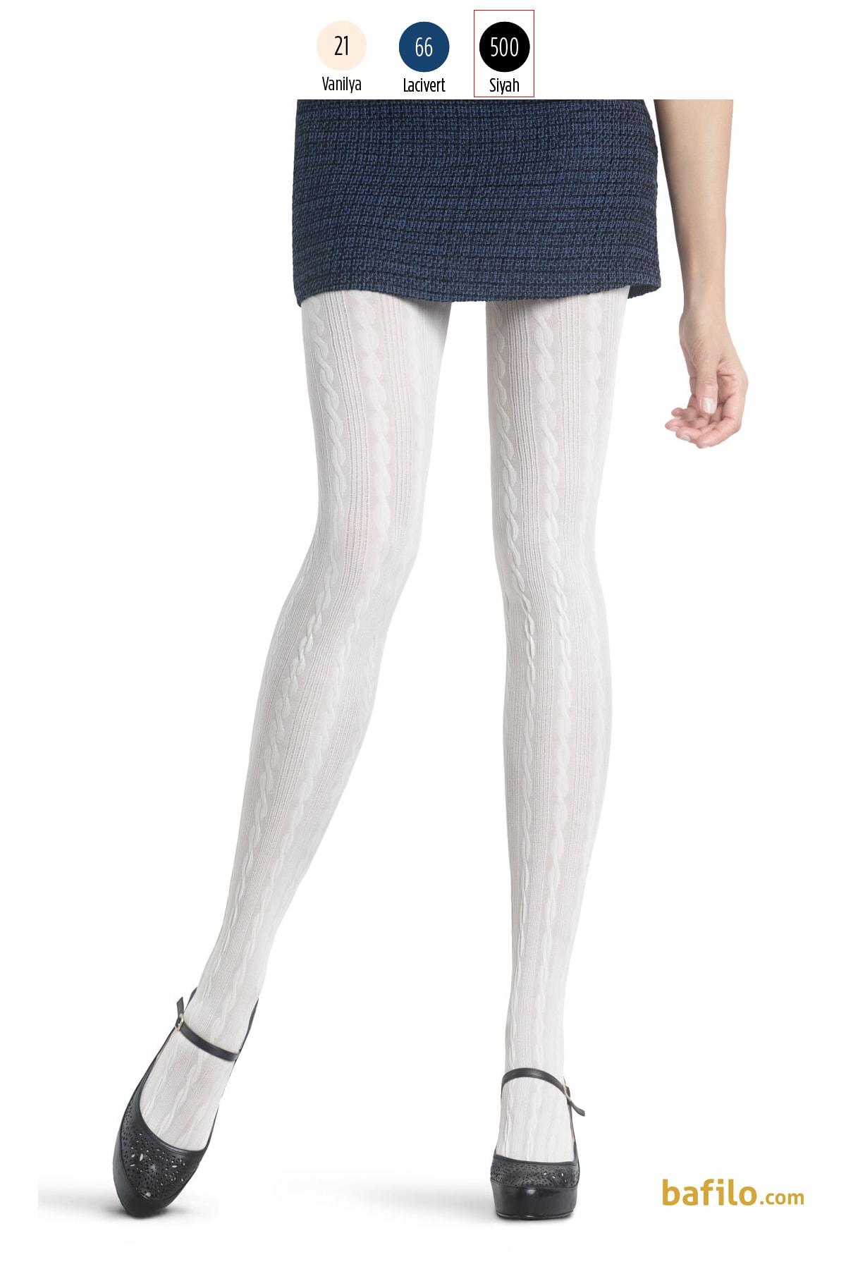 پنتی | Penti - جوراب شلواری طرح دار زنانه پنتی  Marlen مشکی