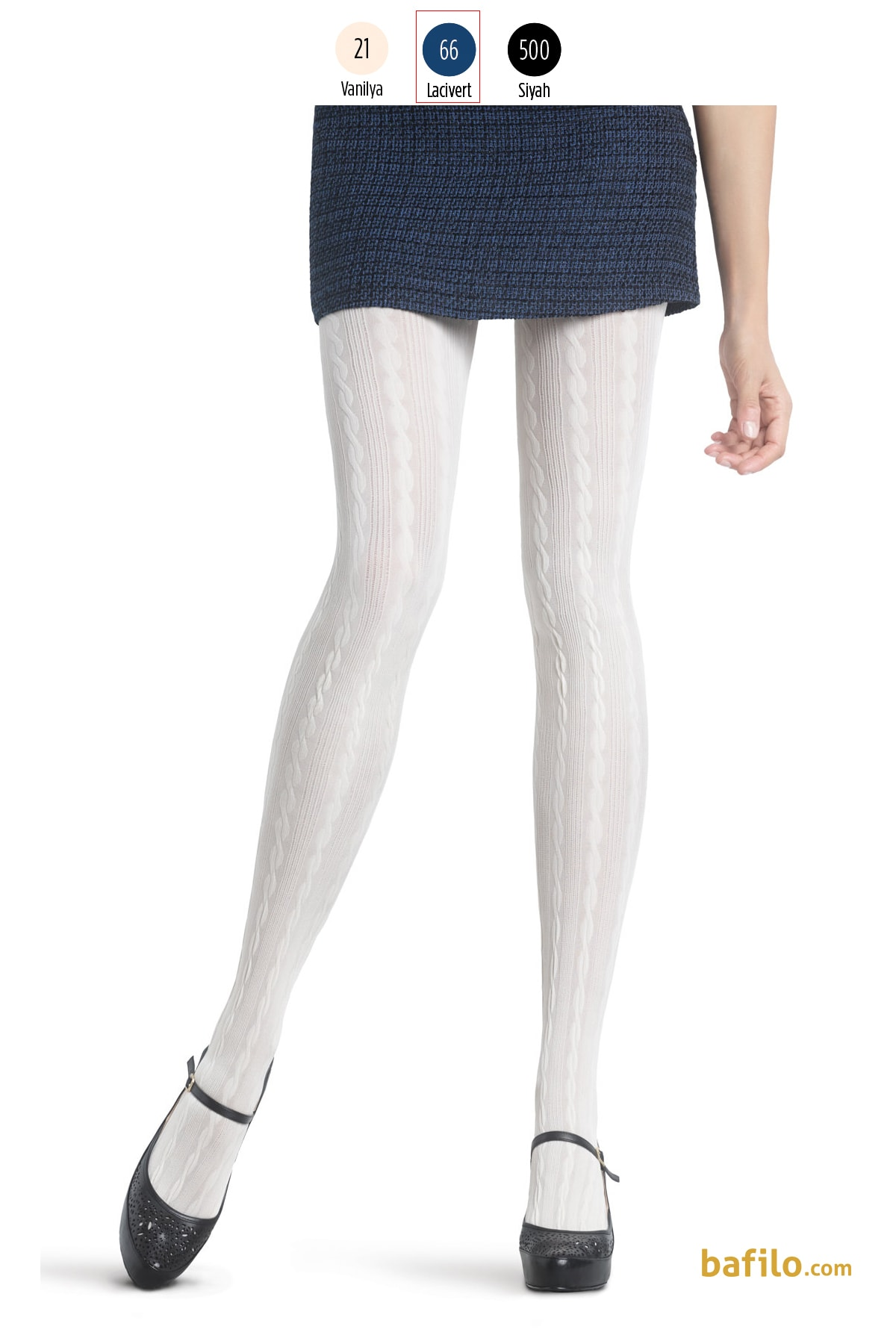 پنتی | Penti - جوراب شلواری طرح دار زنانه پنتی  Marlen سرمه ای