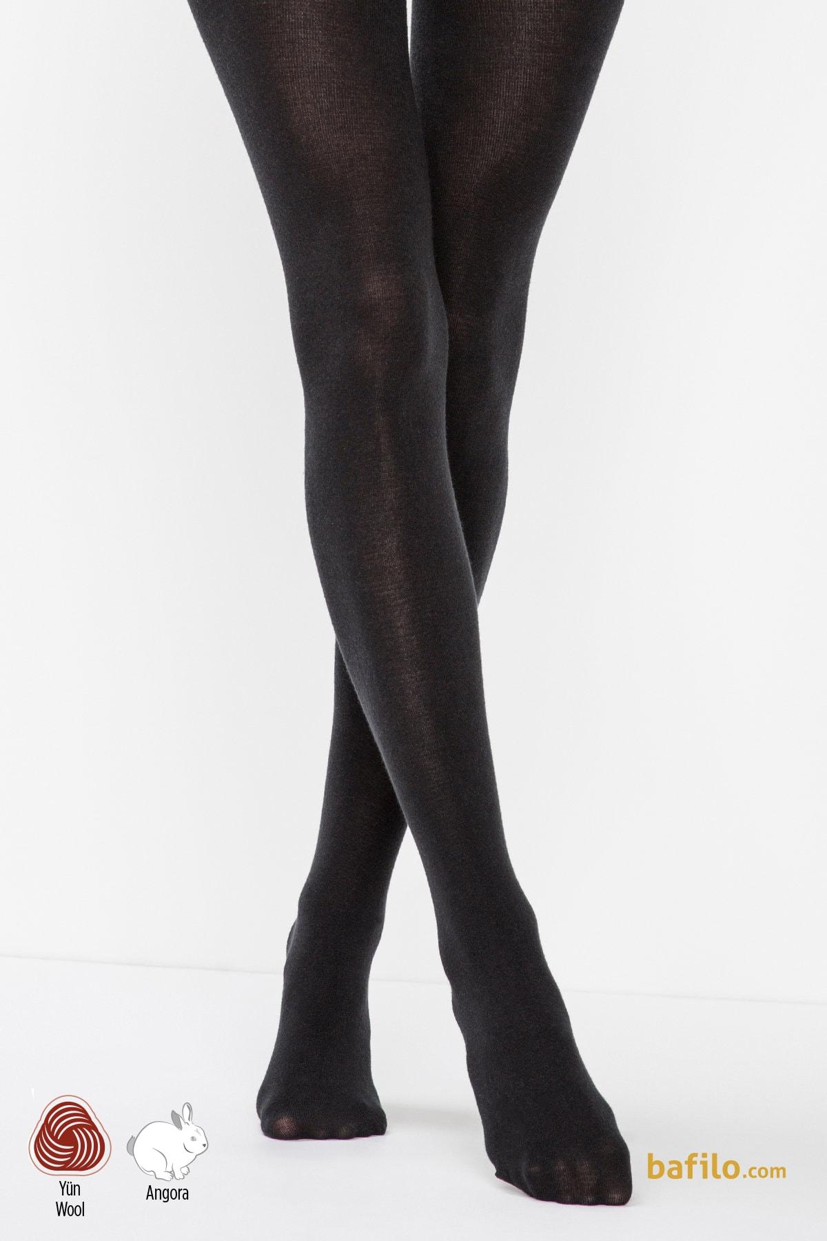 پنتی | Penti - جوراب شلواری پشم خرگوش زنانه پنتی Angora مشکی