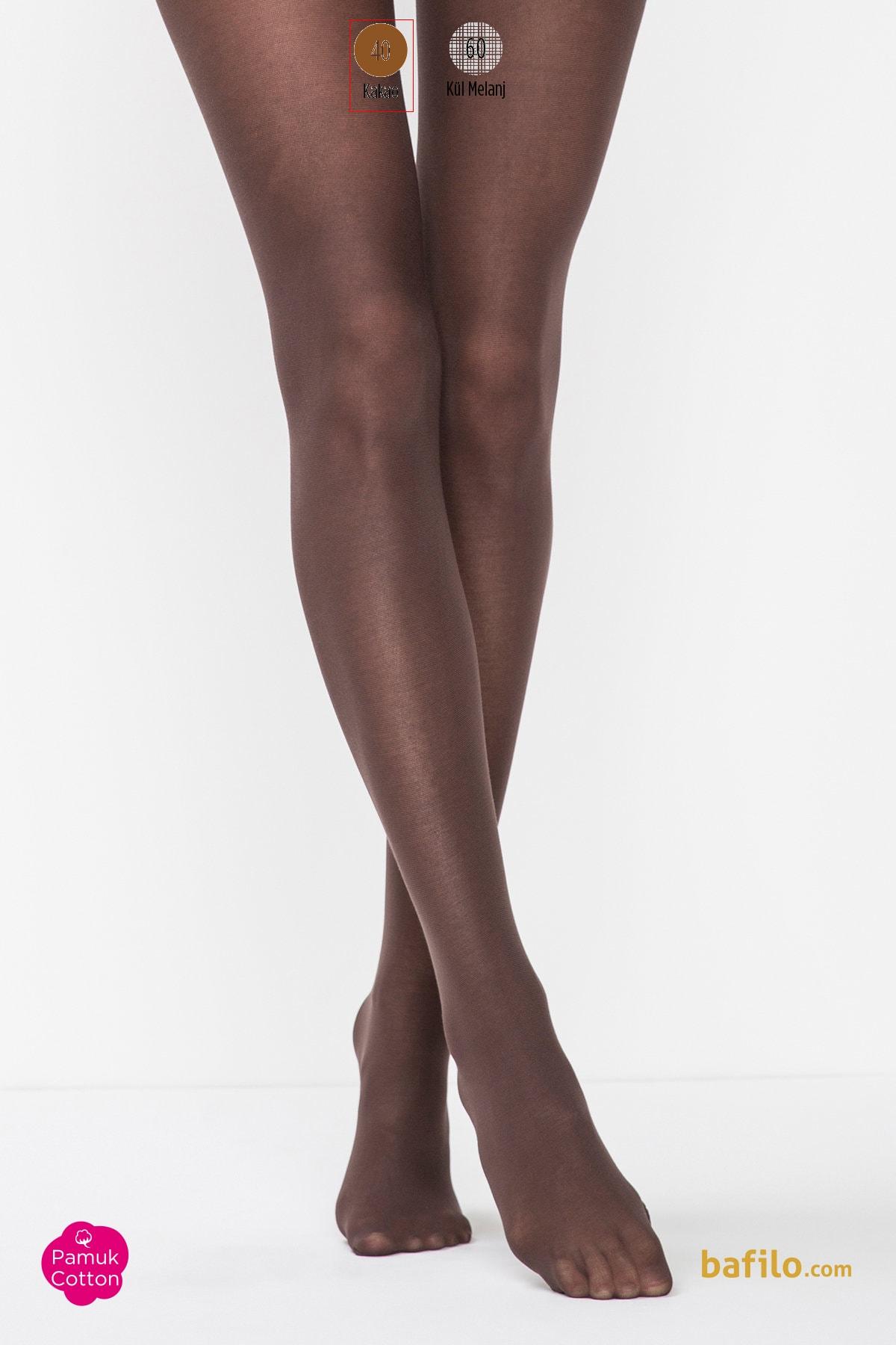پنتی | Penti - جوراب شلواری نخی زنانه پنتی Koton قهوه ای