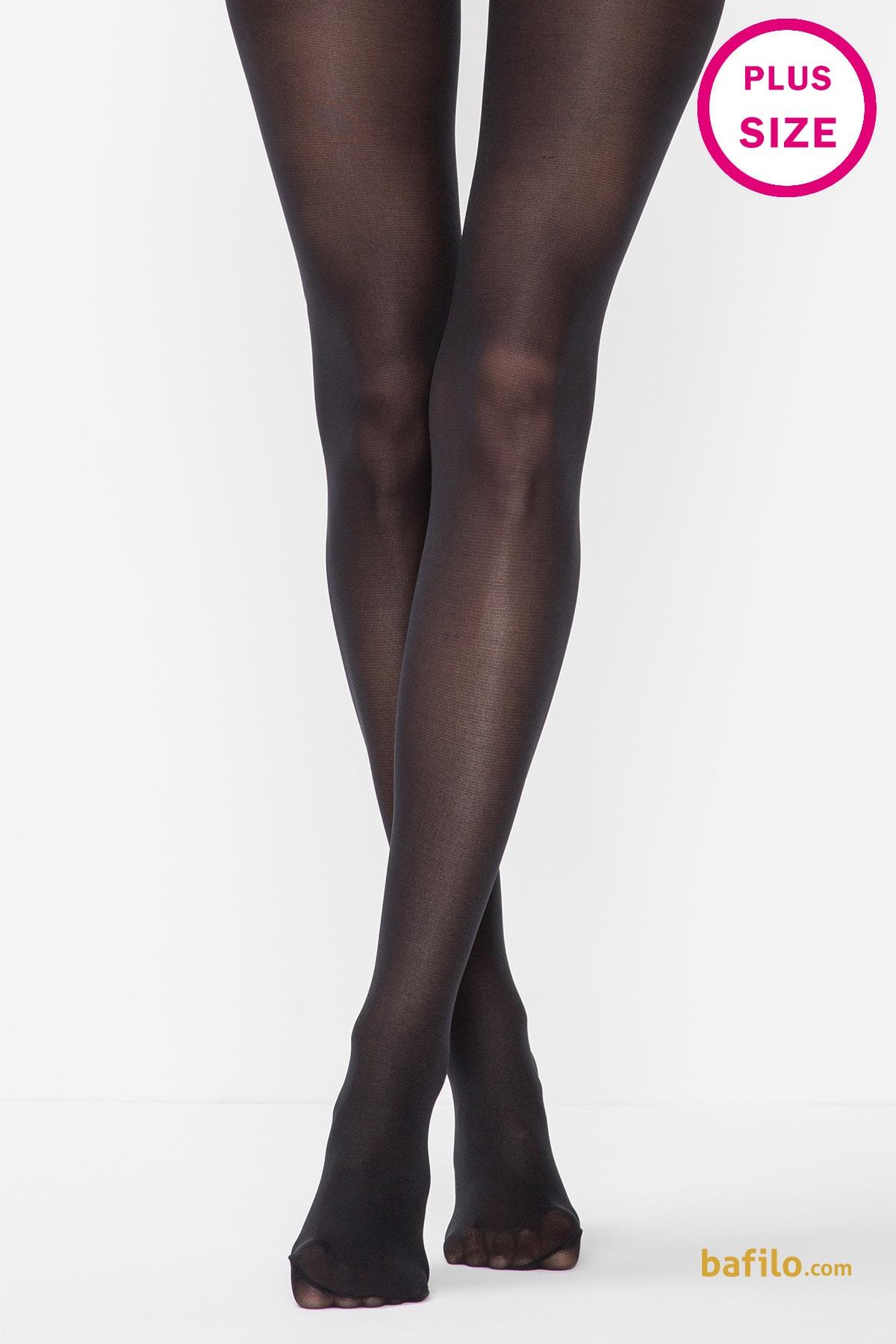 جوراب شلواری سایز بزرگ زنانه پنتی Mikro 40 مشکی
