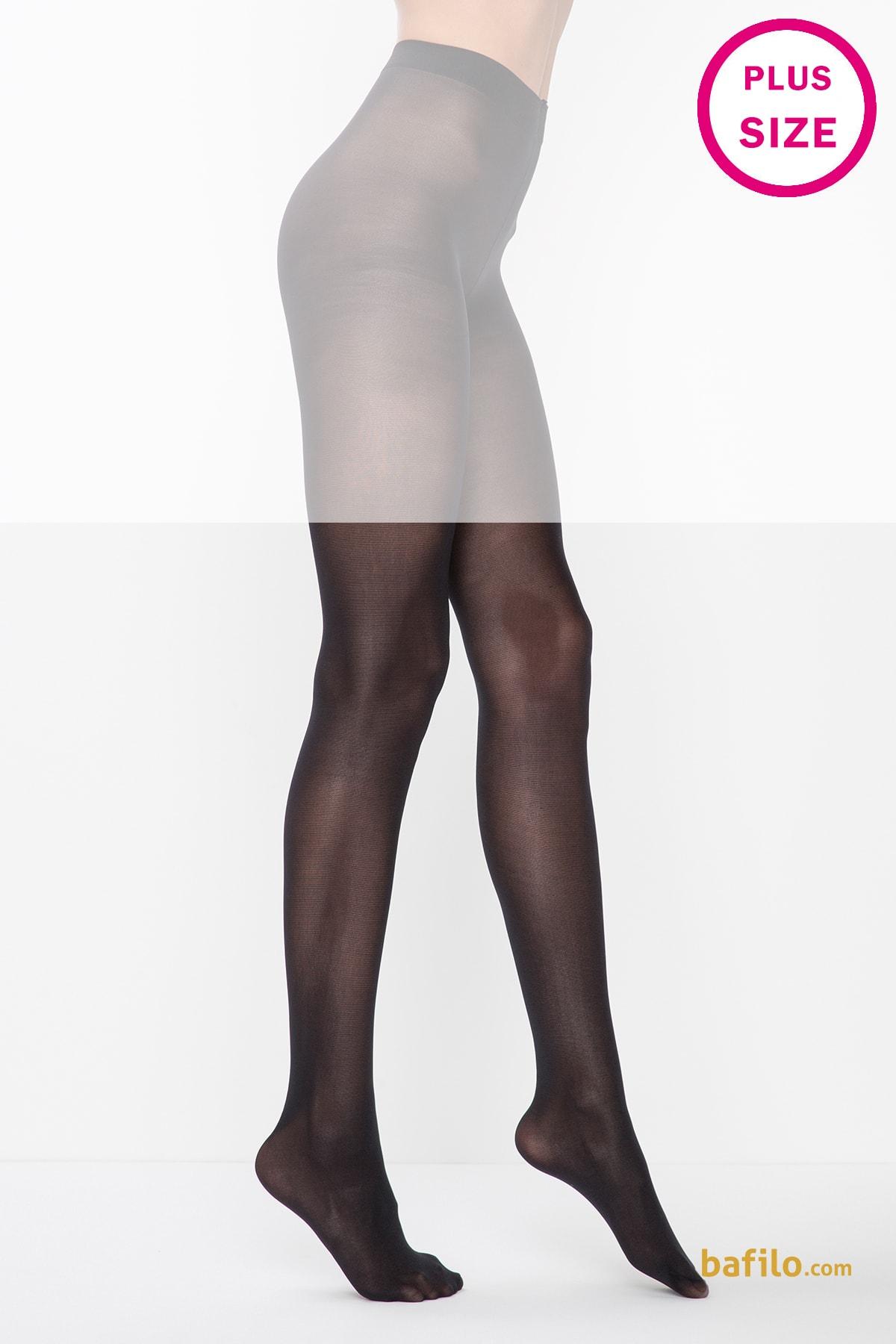 جوراب شلواری سایز بزرگ زنانه پنتی Mikro 40 مشکی - Thumbnail