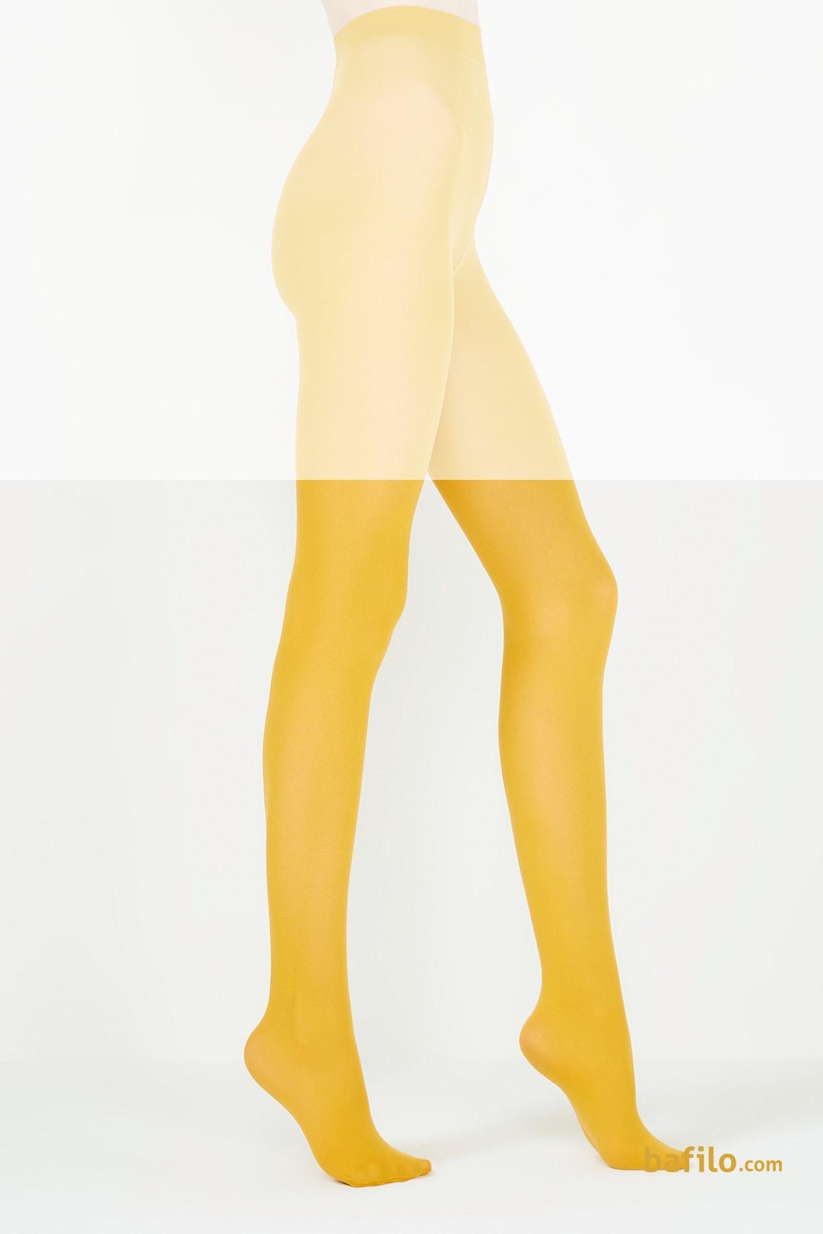جوراب شلواری زنانه پنتی Mikro 40 خردلی - Thumbnail