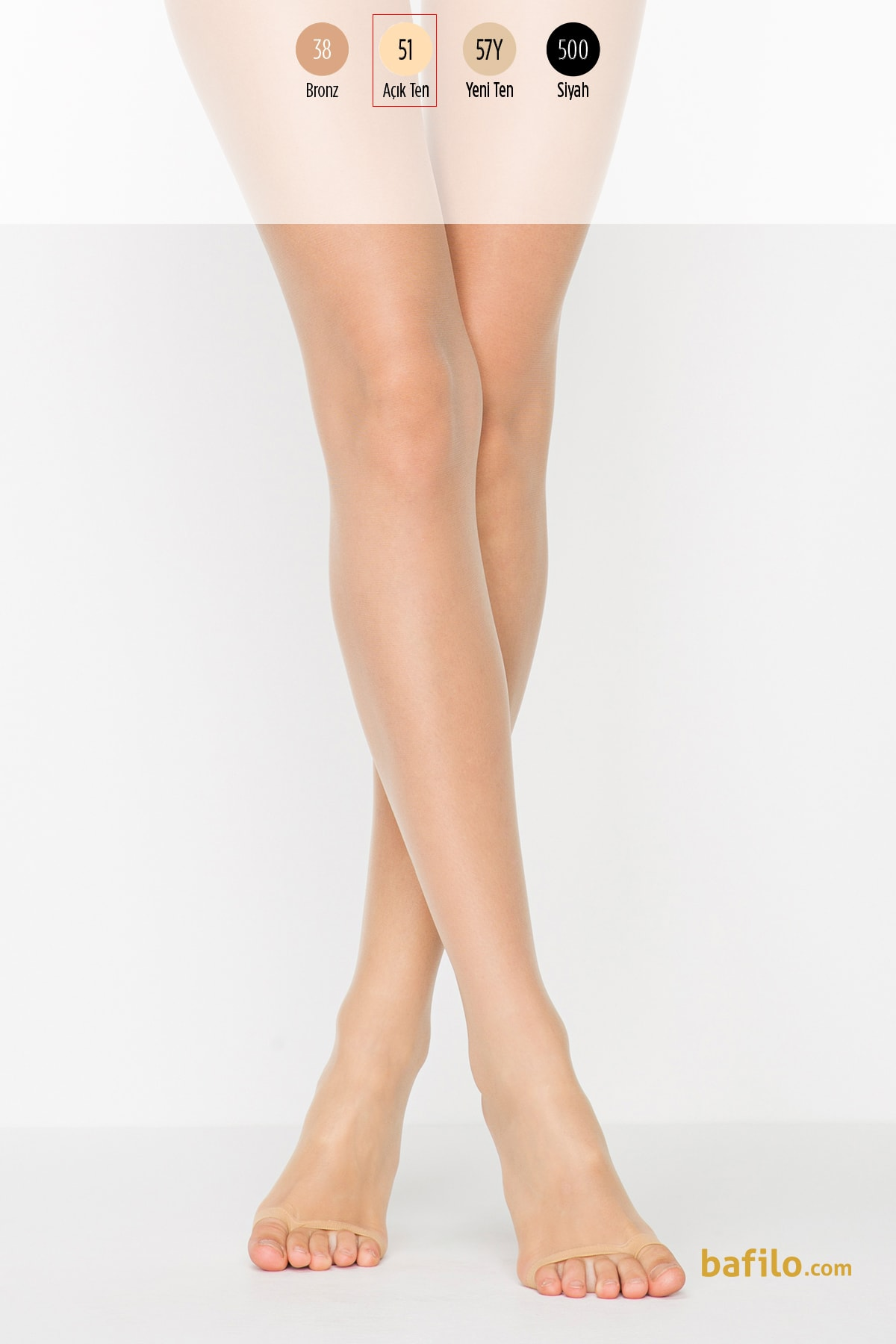 پنتی | Penti - جوراب شلواری دکلته استپ دار پنتی Dekolte 10 - رنگ بدن روشن