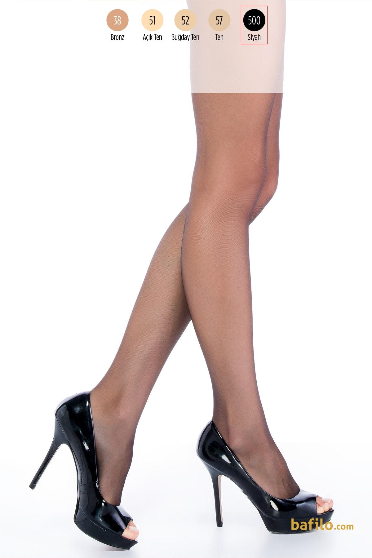 پنتی | Penti - جوراب شلواری دکلته پنتی Dekolte Parmaksiz 10 - مشکی