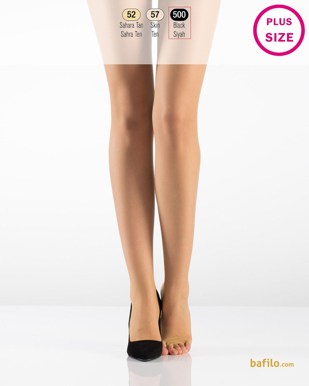 ایتالیانا   ITALIANA - جوراب شلواری دکلته سایز بزرگ زنانه Fit Parmaksiz مشکی