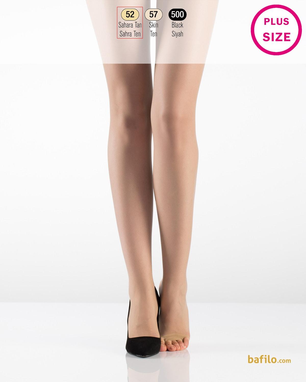 ایتالیانا   ITALIANA - جوراب شلواری دکلته سایز بزرگ زنانه Fit Parmaksiz رنگ بدن صحرا